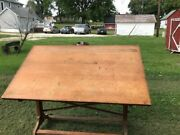 Antique Post Drafting Table