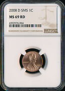 2008 D Lincoln Cent Ngc Ms69 Sms Finest Registry Low Pop Rare