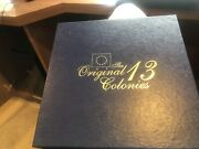 The Original Historical 13 Colonies Gold Plated Quarter Set Mint Great Gift Idea