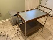 Vintage 1960s Salton Hotable Hotray Wood Two Tier Heated Serving Cart H-158-s