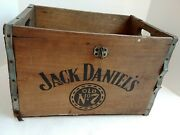 Jack Daniels Old No. 7 Vintage Wood Crate Wooden Box Tennessee Whiskey No Lid