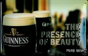 Guinness Beauty Tin Sign Shield 3d Embossed Arched Metal 7 7/8x11 13/16in