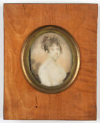 Favorin Lerebours Ca.1773-after 1816 Young Lady In White Gown, Ca.1800