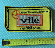 Vintage 1970s Topps Wacky Packages Sew-on Cloth Patch Andldquovileandrdquo Soap Spoof Novelty