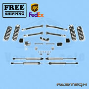 3 Trail Syst W/ 2.25 Non Resi Shocks Fabtech For 07-17 Jeep Jk 4-door 4wd