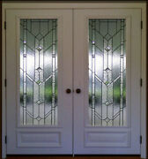 Stain Glass Pocket Or French Interior Doors 36 X 80 1 Pr