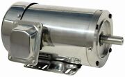 5 Hp Stainless Steel Electric Motor 184tc 3 Phase Washdown 3600 Rpm With Base