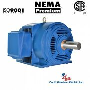 20 Hp Electric Motor 254t 3 Phase 3530 Rpm Open Drip Proof Cast Iron 208-230/460