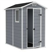 Ventilated Top Plastic Shed For Outdoor Lawn Garden Tool Storage