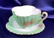 Foley Shelley China Co. Tea Cup And Saucer Hand Painted