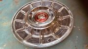 One 1957 Cadillac Hubcap Unmolested Show Quality Hubcap And Center Emblem.