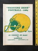 1984 St Vincent-st Mary V Garfield Ohio College Football Program Akron Rubber Bl