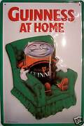 Guinness At Home Metal Tin Plate Sign Tin Sign 7 7/8x11 13/16in