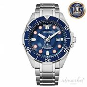 Citizen Watch Bn0208-54w Menand039s Silver Blue Analog Round Face Waterproof 200m