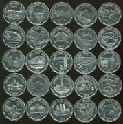 2013 Sri Lanka 25 Coin Set 10 Rupees District Series Circulate/used