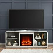 Fireplace Tv Stand W/wire Management Mainstays Modern Tvs Up To 65 White