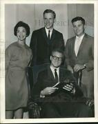 1962 Press Photo Junior Academy Of Sciences' Louis Meyer And Other Officers