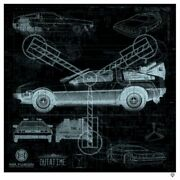 Jj Adams Hand Signed Limited Edition Great Scott Delorean X-ray Limited Edition