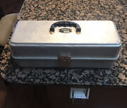 Umco 175 Tackle Box Full Of Vintage Fishing Lures Clean Wooden Lures Bobbers