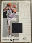 2002-03 Sp Game Used Tony Parker Authentic Fabrics Game Worn Jersey Sp