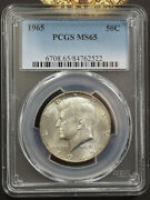 1965 Kennedy Half Dollar Pcgs Ms65 Business Strike 762522