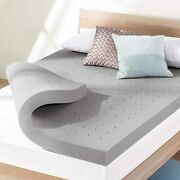 Best Price Mattress 4 Inch Ventilated Memory Foam Topper With Bamboo Charcoal In