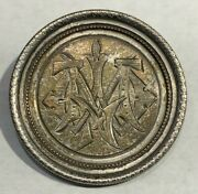 1879 Silver Morgan Dollar Vintage Brooch/ Pin Great Detail And Relief