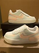 Nike Air Force 1 Low Shadow Sail Barely Green Orange Cu8591-104 Womenandrsquos Sizes