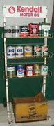 Motor Oil Can Curb Side Display Cart 1950-60s Kendall Motor Oil Sign Gas Station