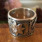 Silpada Sterling Silver R1739 Celestial Wide Band Ring Size 6 Htf