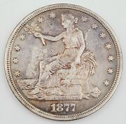 1877-s United States William Barber Trade .900 Silver 1.00 Dollar Coin 27.1g