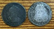 1780 Mo Ff And 1819 Z Ag 1 Real Mexican Colonial Silver Coins