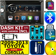 Fits/for 2009-2013 Toyota Corolla Bluetooth Usb Sd Aux Car Radio Stereo Package