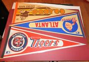 Collection Of 15 Different Original Mlb Team Pennants From The 1970s