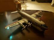 Marx C.1960 American Airlines Dc7 Andldquoflagship Carolynandrdquo Battery Operated Airliner