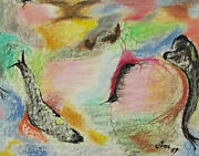 Ernst R. Sompek - Abstract Composition Fish Bird Butterfly