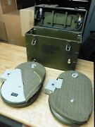 2 Bell And Howell Military Aircraft Magazine Motion Picture 1000ft 35mm And Case Box