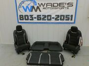 2019 Chevrolet Camaro Ss 1le Seat Set Black/gray Leather/suede Oem