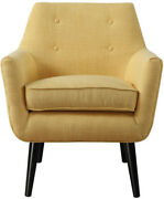 Tov Furniture Clyde Collection Upholstered Tufted Living Room Accent Chair