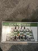 2001 Big League Promotions Corp Golf Chess Game New And Sealed