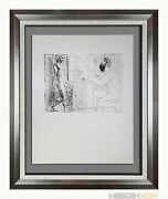 Pablo Picasso Lithograph Ltd Ed. Sculptor Seated By Window.. Sign ++framing