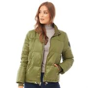Uggs Womens Izzie Puffer Nylon Jacket. Colour Olive Green. Size Xs. Rrpandpound185.