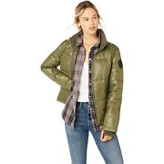 Uggs Womens Izzie Puffer Nylon Jacket. Colour Olive Green. Size Large. Rrpandpound185.