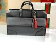 Italy 17 Tomford Black Leather Bag Case Attache Mens
