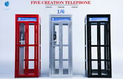 Fivetoys 1/6 Metal Telephone Booth Phone House F2013 For 12and039and039 Action Figure