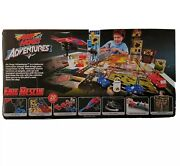 Air Hogs Fire Rescue Tethered Helicopter Playset Spinmaster Rare 2012 New Game