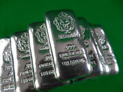 Scottsdale Mint 100g Hand Stamped Cast 999 Silver Bullion Bar 1 Pc.