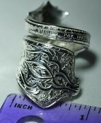 Antique 1872 And Co Persian Sterling Spoon Ring Size 7 Teaspoon L