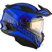 Ckx Mission Ams Space Blue Snowmobile Helmet Full Face 513452 513454 513453