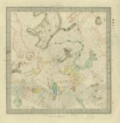 Astronomy Celestial Star Map Chart 5 North Pole. Sduk 1874 Old Antique